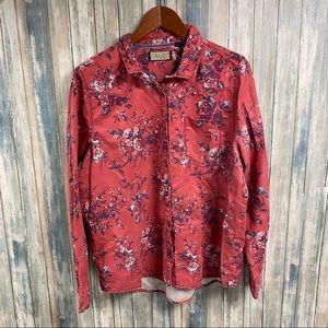 Legacy Falls Western Floral Shirt sz XL # N157